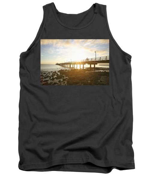 Morning Sunshine At The Pier  Tank Top