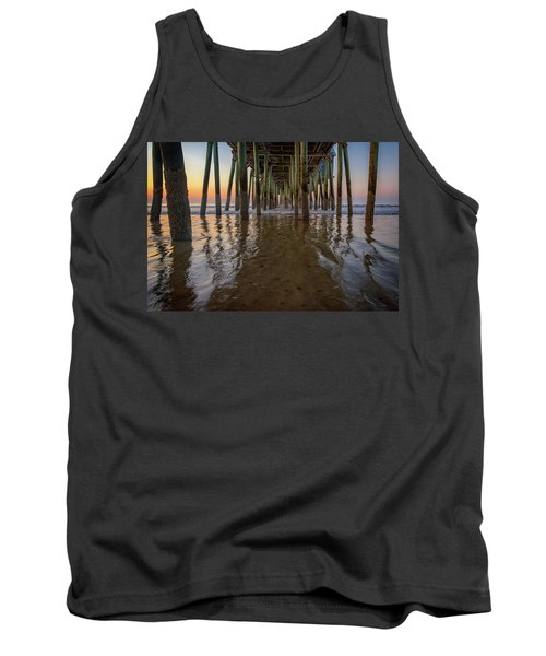 Tank Top featuring the photograph Morning Under The Pier, Old Orchard Beach by Rick Berk