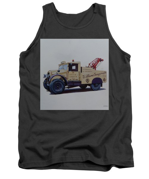 Tank Top featuring the painting Morris Commercial Wrecker. by Mike Jeffries