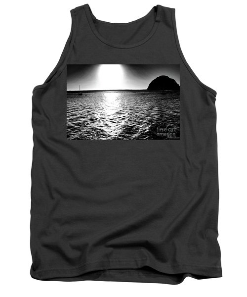 Morro Rock, Black And White Tank Top