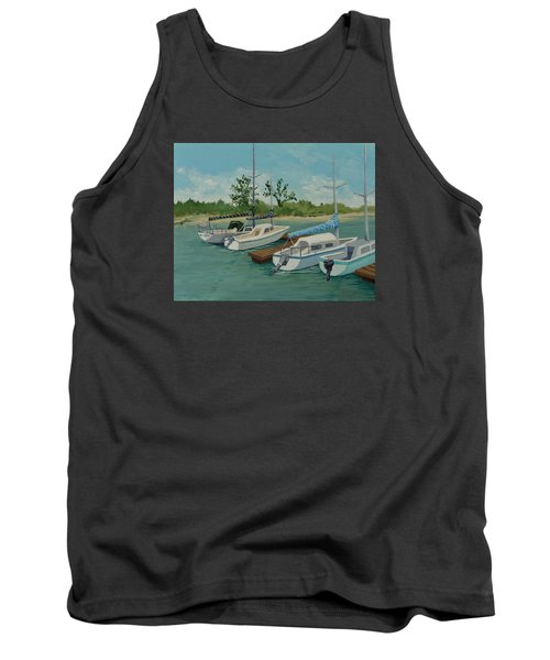 Tank Top featuring the painting Morro Bay State Park Ca by Katherine Young-Beck