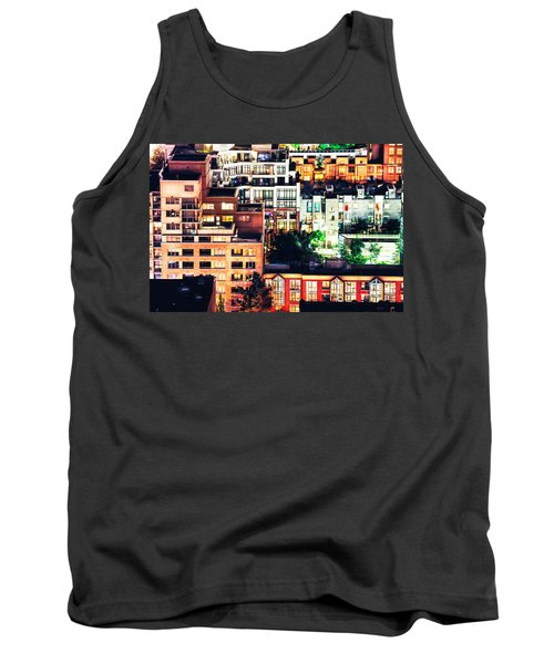 Mosaic Juxtaposition By Night Tank Top by Amyn Nasser