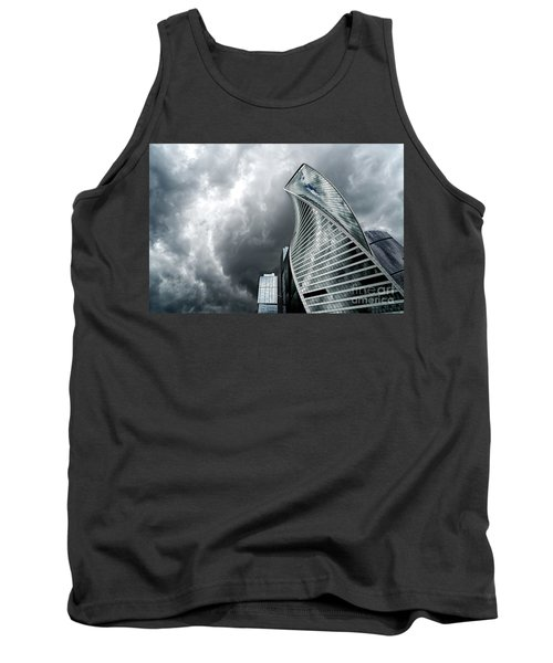 Moscow City And Storm Tank Top by Anastasy Yarmolovich