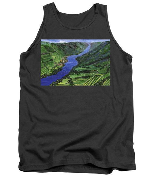 Tank Top featuring the painting Moselle River by Jamie Frier