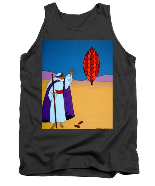 Moses And The Burning Bush Tank Top by Stephanie Moore