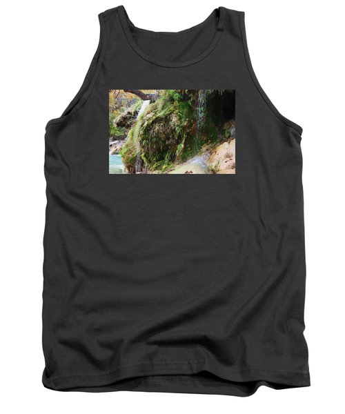 Tank Top featuring the photograph Moss And Waterfalls by Sheila Brown