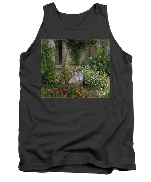 Mother And Child In The Flowers Tank Top