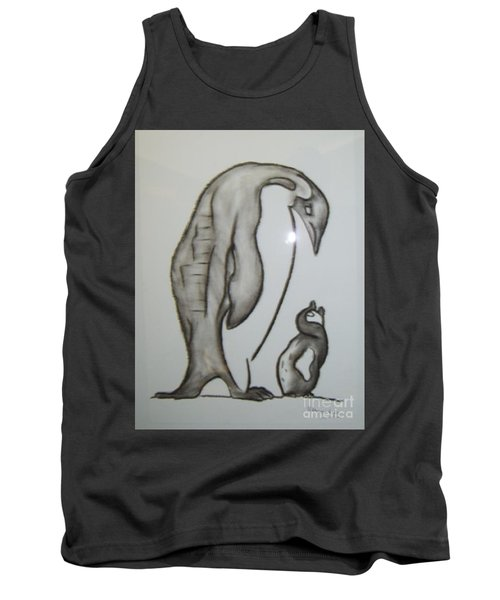 Mother And Child Penguins Tank Top