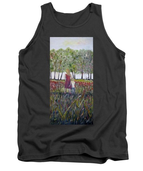 Tank Top featuring the painting Mother And Son by Marilyn  McNish