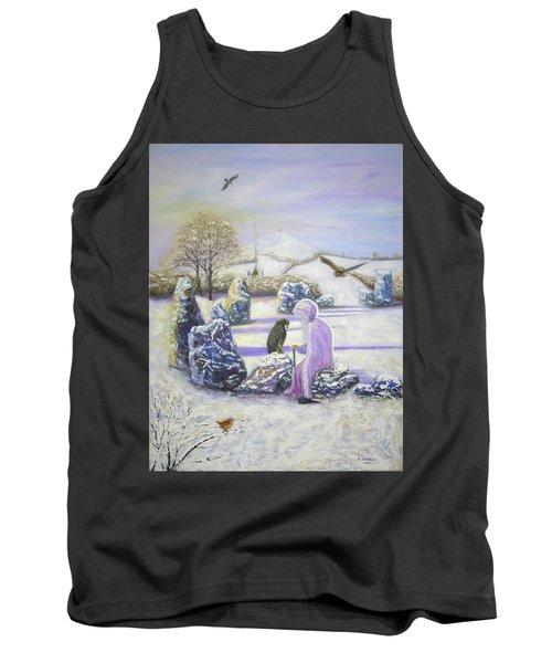 Mother Of Air Goddess Danu - Winter Solstice Tank Top