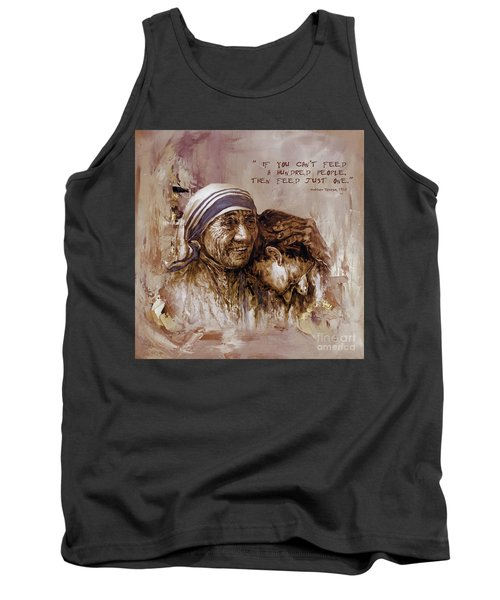 Tank Top featuring the painting Mother Teresa Of Calcutta  by Gull G