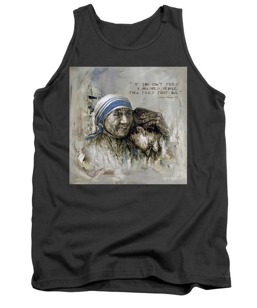 Tank Top featuring the painting Mother Teresa Portrait  by Gull G