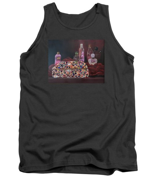Tank Top featuring the painting Mother's Jewelry Box by Quwatha Valentine