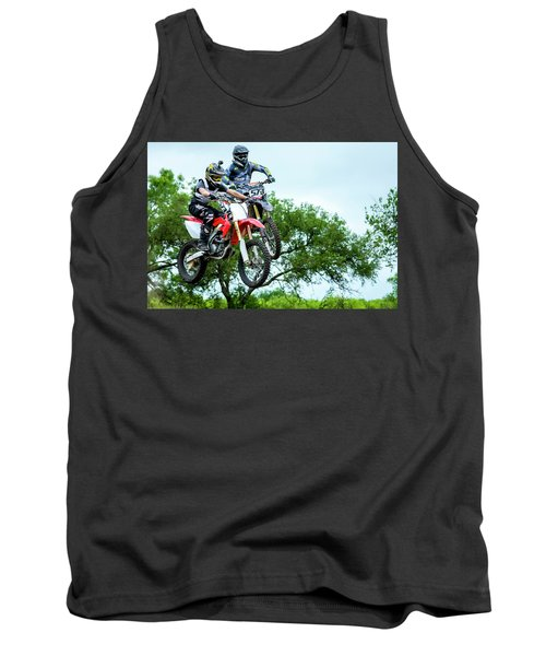 Tank Top featuring the photograph Motocross Battle by David Morefield