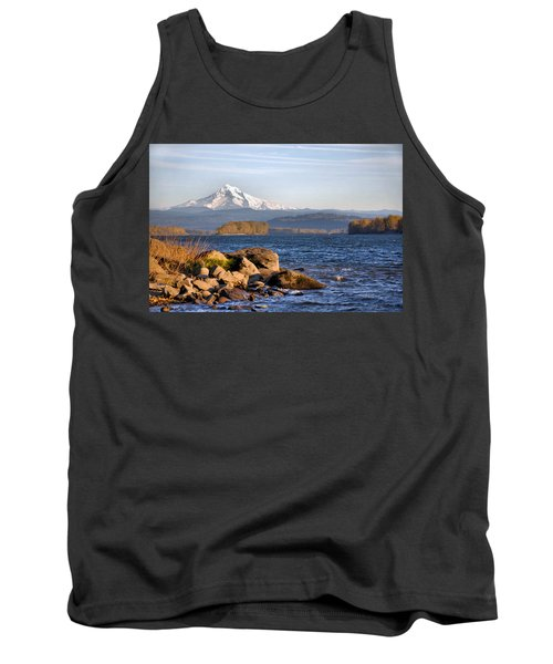 Mount Hood And The Columbia River Tank Top by Jim Walls PhotoArtist