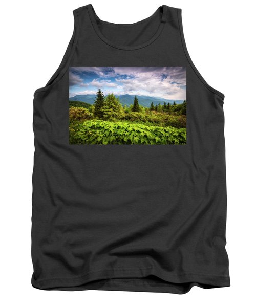 Mount Mitchell Asheville Nc Blue Ridge Parkway Mountains Landscape Tank Top