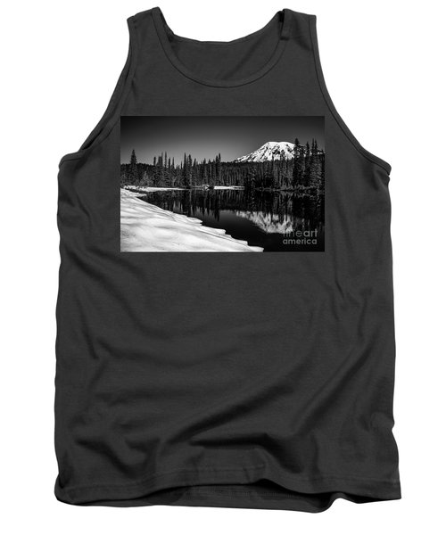 Mount Rainier Reflection Tank Top