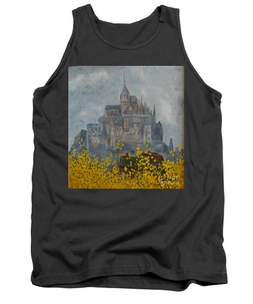 Tank Top featuring the painting Mount Saint Michael by Rod Ismay