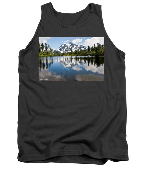 Mount Shuksan Reflected In Picture Lake Tank Top by Jeff Goulden