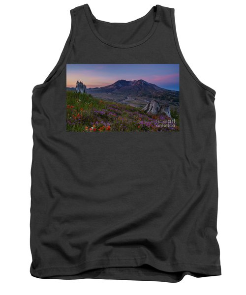 Mount St Helens Spring Colors Tank Top