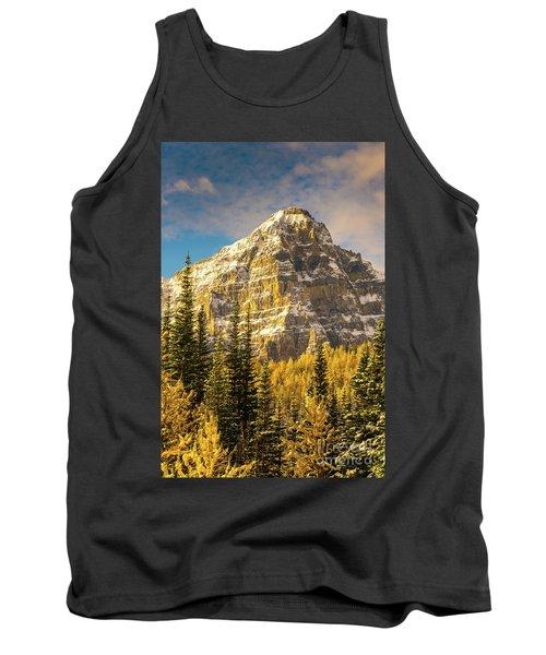 Mount Tuzo Ten Peaks Golden Fall Colors Tank Top