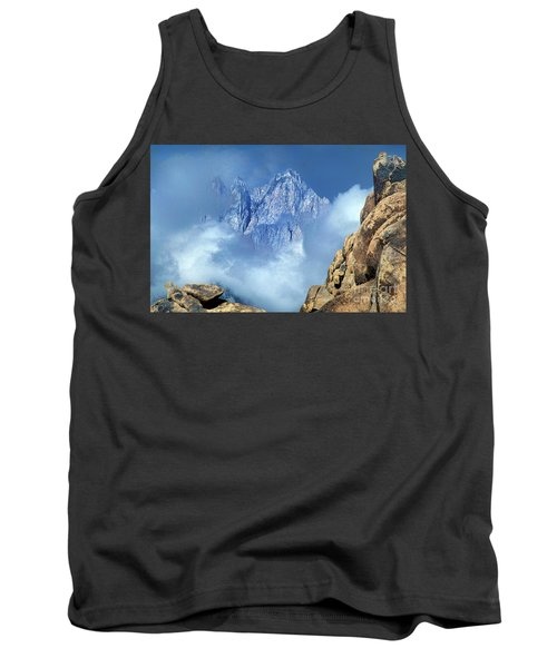 Tank Top featuring the photograph Mount Whitney Clearing Storm Eastern Sierras California by Dave Welling
