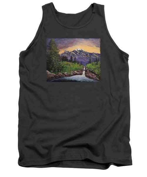 Mountain And Waterfall 2 Tank Top