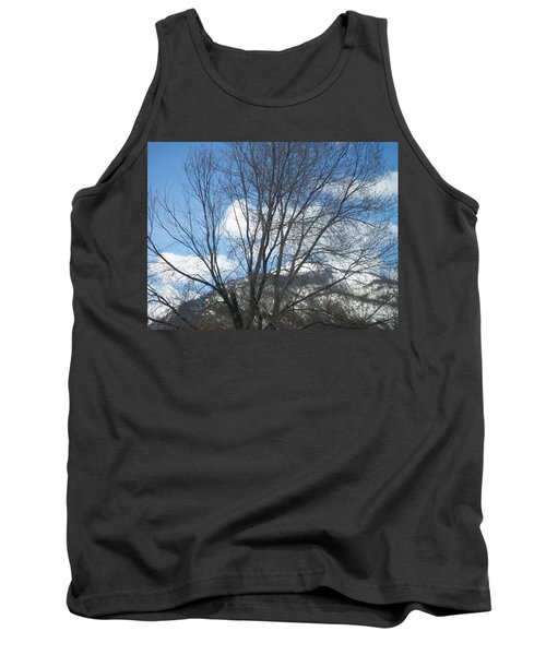 Tank Top featuring the photograph Mountain Backdrop by Jewel Hengen