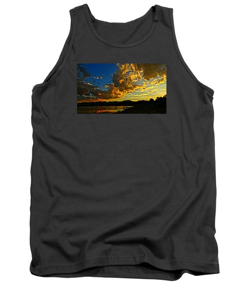 Mountain Colour Tank Top by Eric Dee