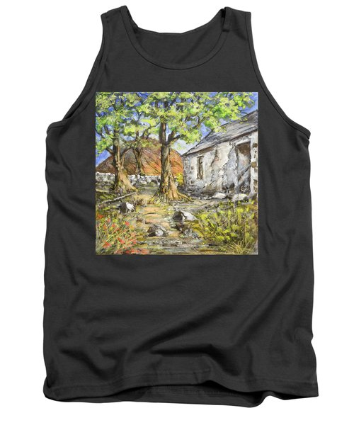 Mountain Cottage Tank Top by Marty Garland