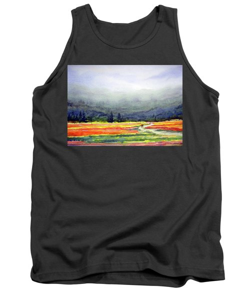 Mountain Flowers Valley Tank Top by Samiran Sarkar