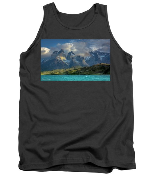 Tank Top featuring the photograph Mountain Glimmer by Andrew Matwijec