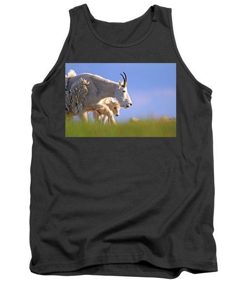 Tank Top featuring the photograph Mountain Goat Light by Scott Mahon