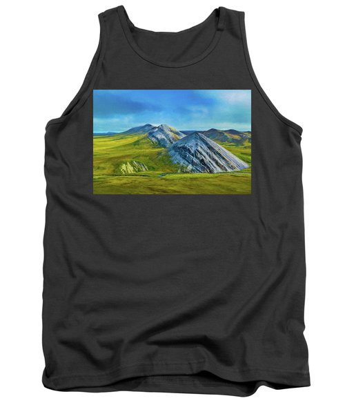 Mountain Landscape Digital Art Tank Top