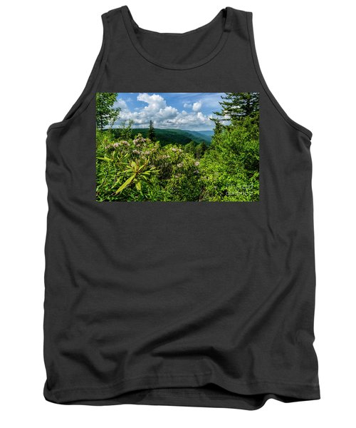 Tank Top featuring the photograph Mountain Laurel And Ridges by Thomas R Fletcher