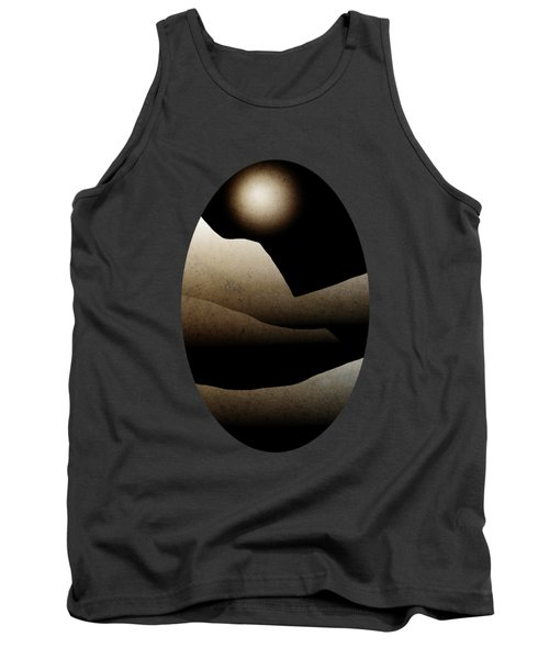 Mountain Moonlight Landscape Art Tank Top by Christina Rollo