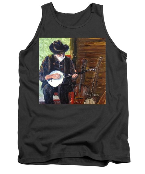 Mountain Music Tank Top by T Fry-Green