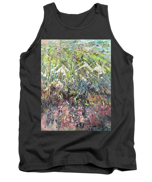 Mountain Of Many Colors Tank Top by George Riney