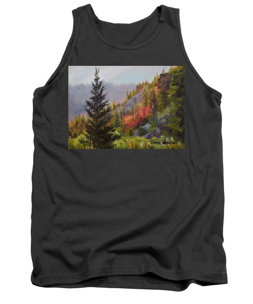 Mountain Slope Fall Tank Top by Lori Brackett