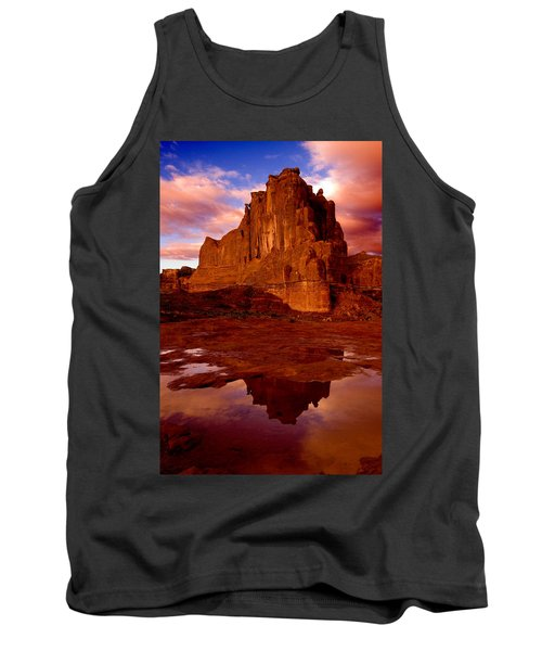 Tank Top featuring the photograph Mountain Sunrise Reflection by Harry Spitz