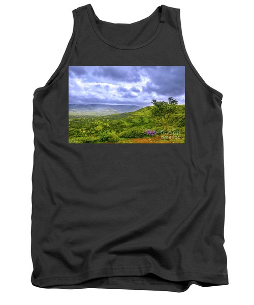 Tank Top featuring the photograph Mountain View by Charuhas Images