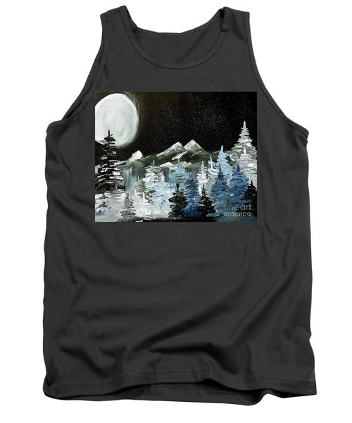 Mountain Winter Night Tank Top