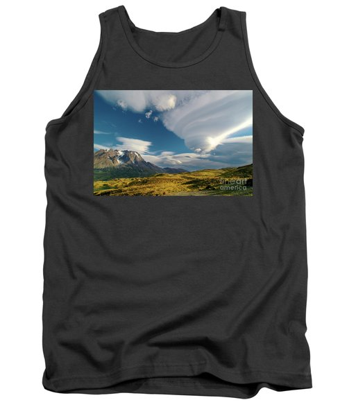 Mountains And Lenticular Cloud In Patagonia Tank Top