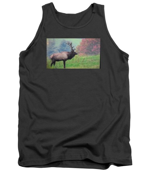 Tank Top featuring the photograph Mr Elk Enjoying The Autumn by Jeanette Oberholtzer
