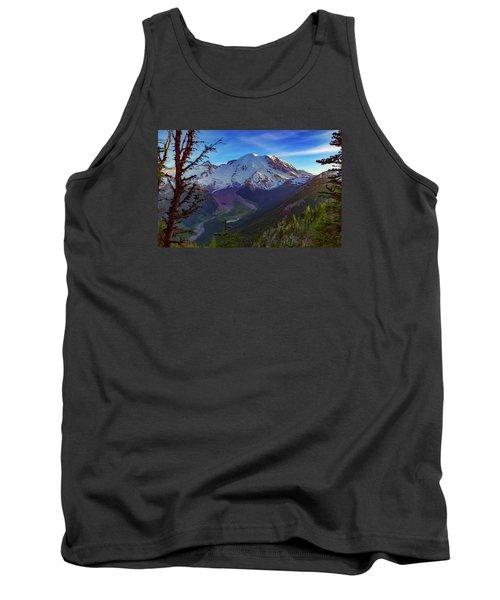 Mt Rainier At Emmons Glacier Tank Top by Ken Stanback
