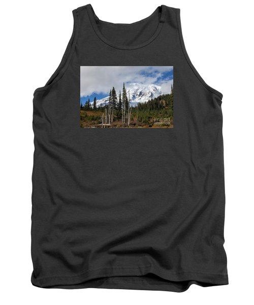 Mt. Rainier High Meadow Tank Top by Chuck Flewelling