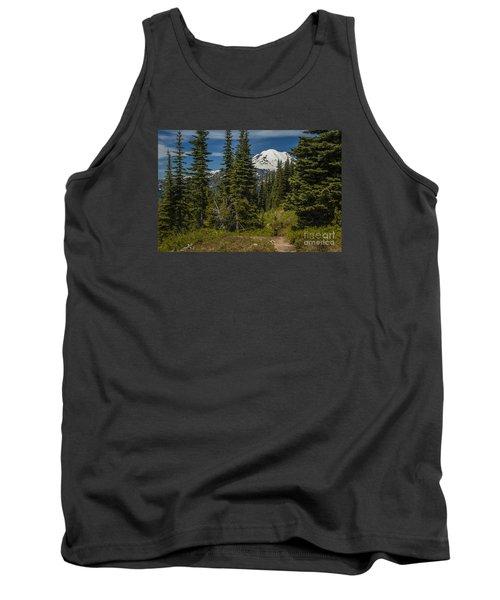Mt. Rainier Naches Trail Landscape Tank Top by Chuck Flewelling