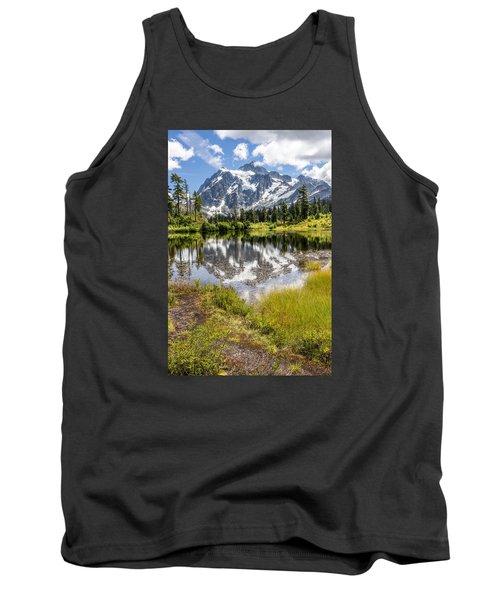 Mt Shuksan On Picture Lake 2 Tank Top