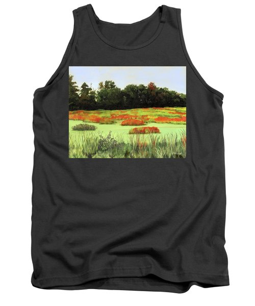 Mud Lake Marsh Tank Top by Lynne Reichhart