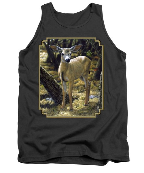 Mule Deer Fawn - Monarch Moment Tank Top by Crista Forest